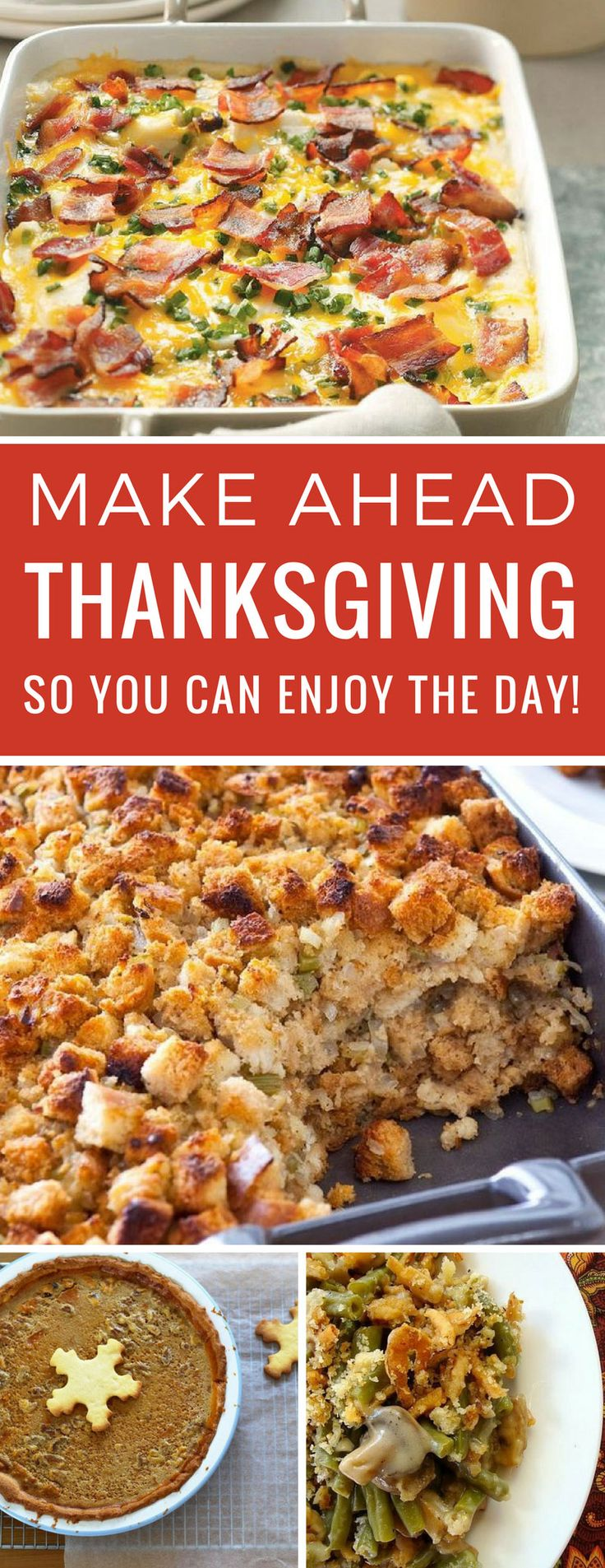 Loving this make ahead Thanksgiving menu - now I won't spend the whole day in the kitchen! Thanks for sharing!