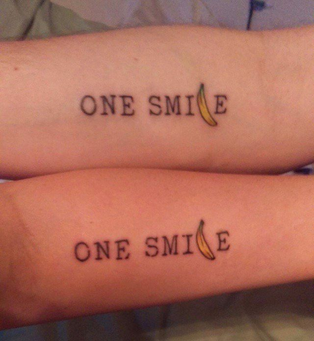 Dada Life Tattoo With Banana From Their Song One Smile Tattoo