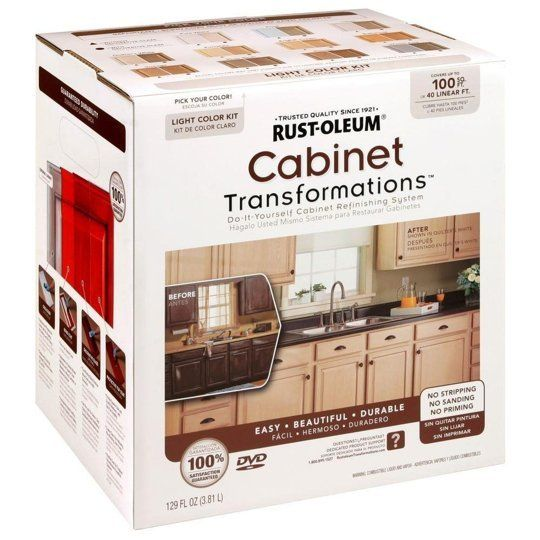 Paint Kits For Kitchen Cabinets: Rust-Oleum Cabinet Refinishing Kit