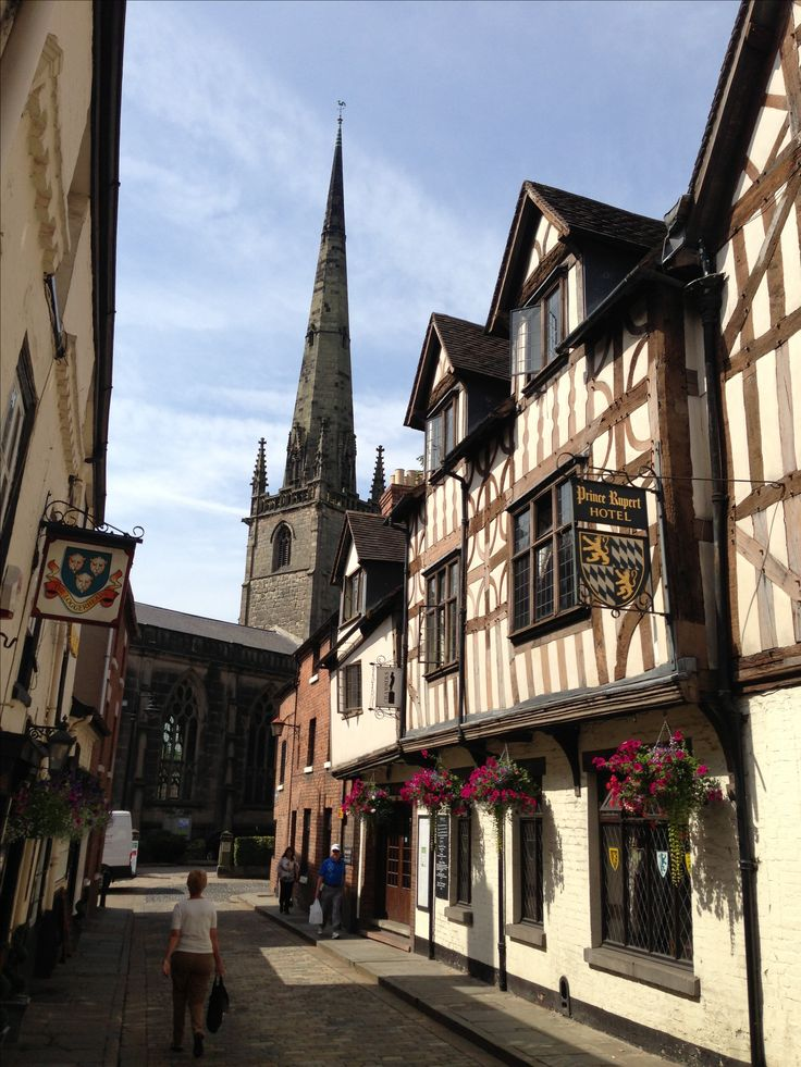 Shrewsbury, A fabulous historic town, great shops, restaurants and architecture...I loved working here when we lived in Shropshire.