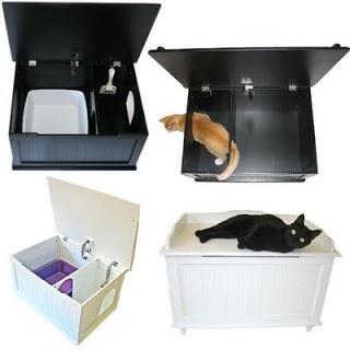 Eu quero um desses!!! * CASA COISAS & TAL: Pets: banheiro de gato