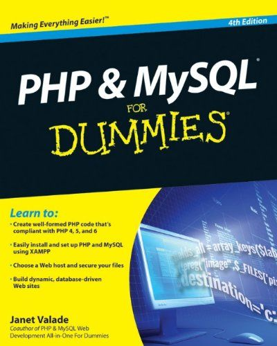 PHP scripting language with a MySQL back-end database offers an effective way to design sites that meet these requirements. This full updated 4th Edition of PHP & MySQL For Dummies gets you quickly up to speed, even if your experience is limited.