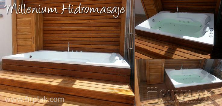 Una nueva propuesta de nuestros clientes de para instalar el #Hidromasaje Millenium. ¿Qué te parece? www.firplak.com