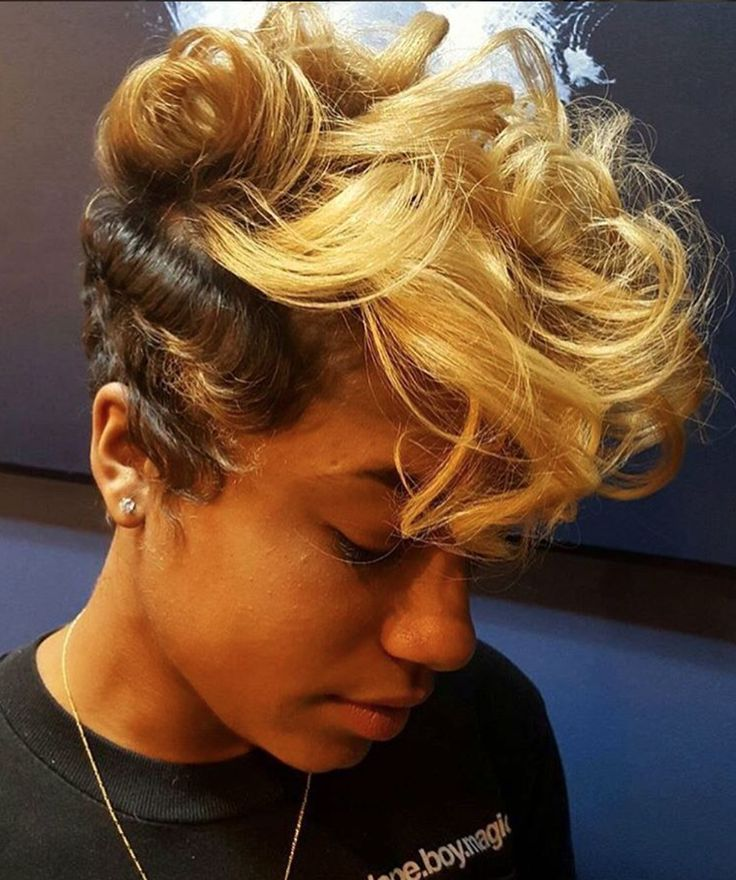 hair styles for bigger women 800 best images about hairstyles for black on 9293 | 50a7cc3d9293f8b0b3211eaf2db6f107 blonde pixie blonde bangs