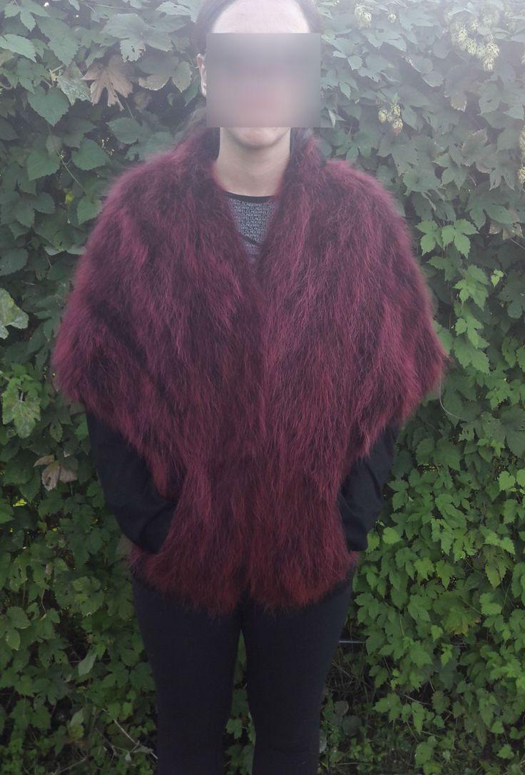 real RED RACCOON FUR Stole- Roter Waschbarpelzstola-procione stola di pelliccia by DamianKastorianFurs on Etsy