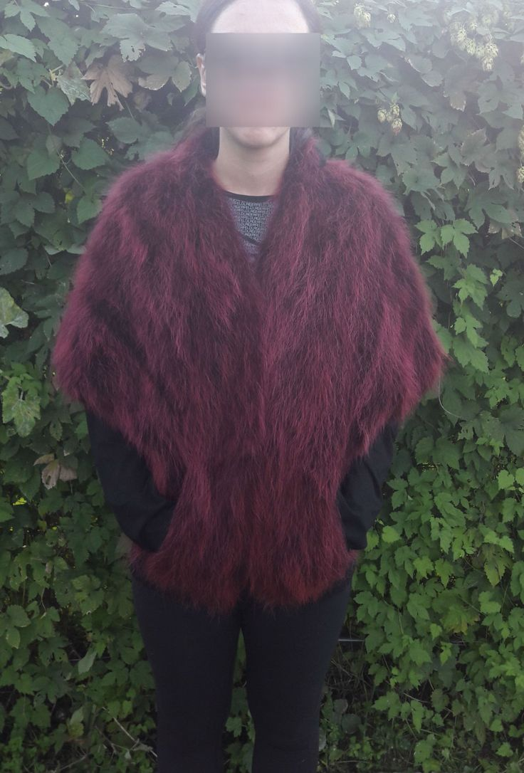 real RED RACCOON FUR Stole- Roter Waschbarpelzstola-procione stola di pelliccia by DamianKastorianFurs on Etsy
