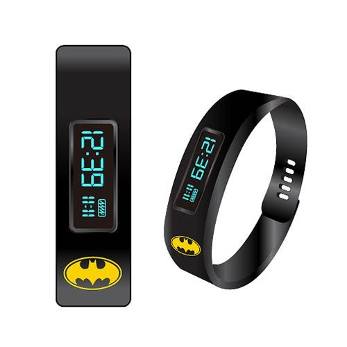 Batman Fitness Tracker LED Watch | Batman stays in shape by fighting crime and working out in the batcave, but we don't all have that ability, so some of us need a little help.