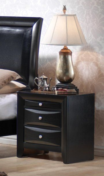 Fairview Black Nightstand by True Contemporary at GoWFB.ca | Free Shipping
