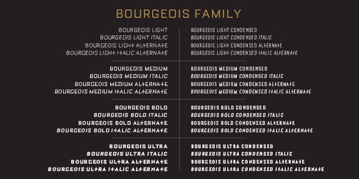 Bourgeois Light Font Demo