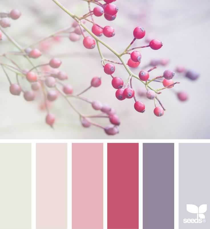 Design Seeds For more colour trends 2016 - 2017 check http://www.wonenonline.nl/interieur-inrichten/kleuren-trends/ #colour #palette #design