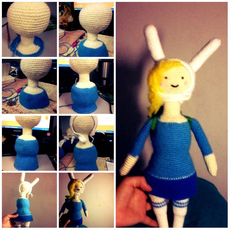 Fionna adventure time  amigurumi  Visit my pag http://princesa-lanosa.tumblr.com/