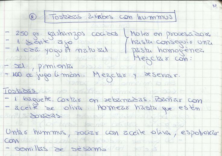 TOSTADAS ÁRABES CON HUMMUS   #SALADO #COCTEL #COCTEL #GARBANZOS