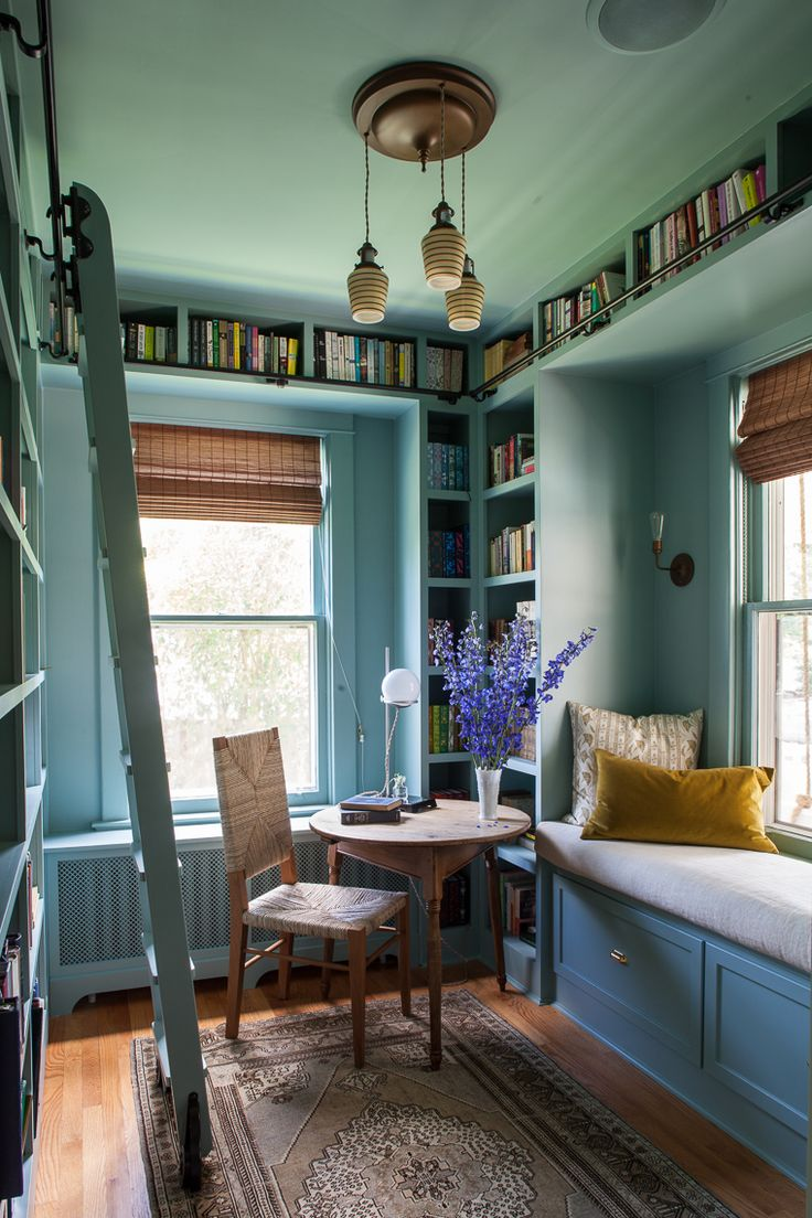 Lauren Liess library. Blue Dix by Farrow & Ball or Grenada Villa 690 by Benjamin…   – selber machen