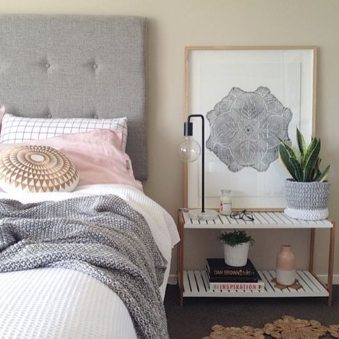 A Jimmy Stand makes an elegant bedside table. Styling and photo by Clareb8.