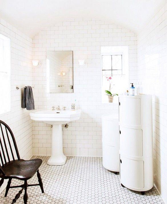 71 Best White Bathroom Tile Images On Pinterest