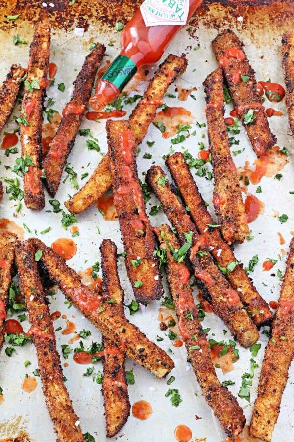 Sea Salt and Tomato Vinegar Eggplant Fries | In Sock Monkey Slippers