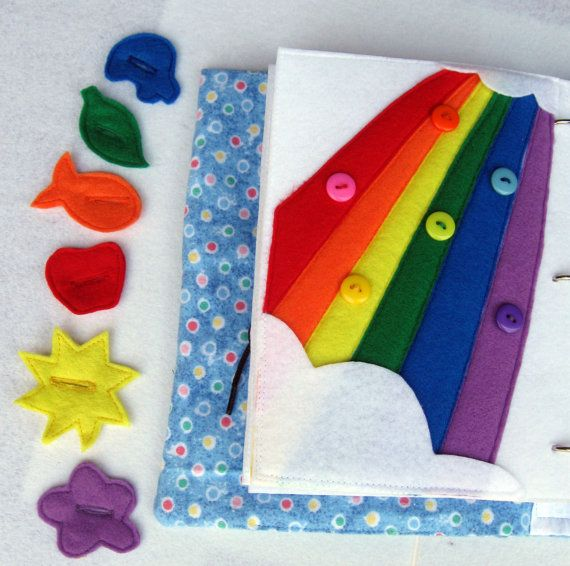 1 felt quiet book page for toddler colors by ascreativeations