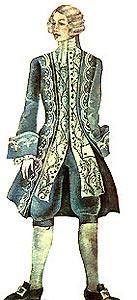 Французский мужской костюм xviii века