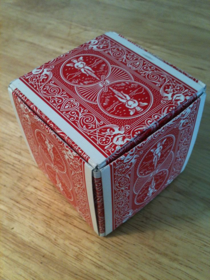 How to Make a Gift Box Out of Playing Cards