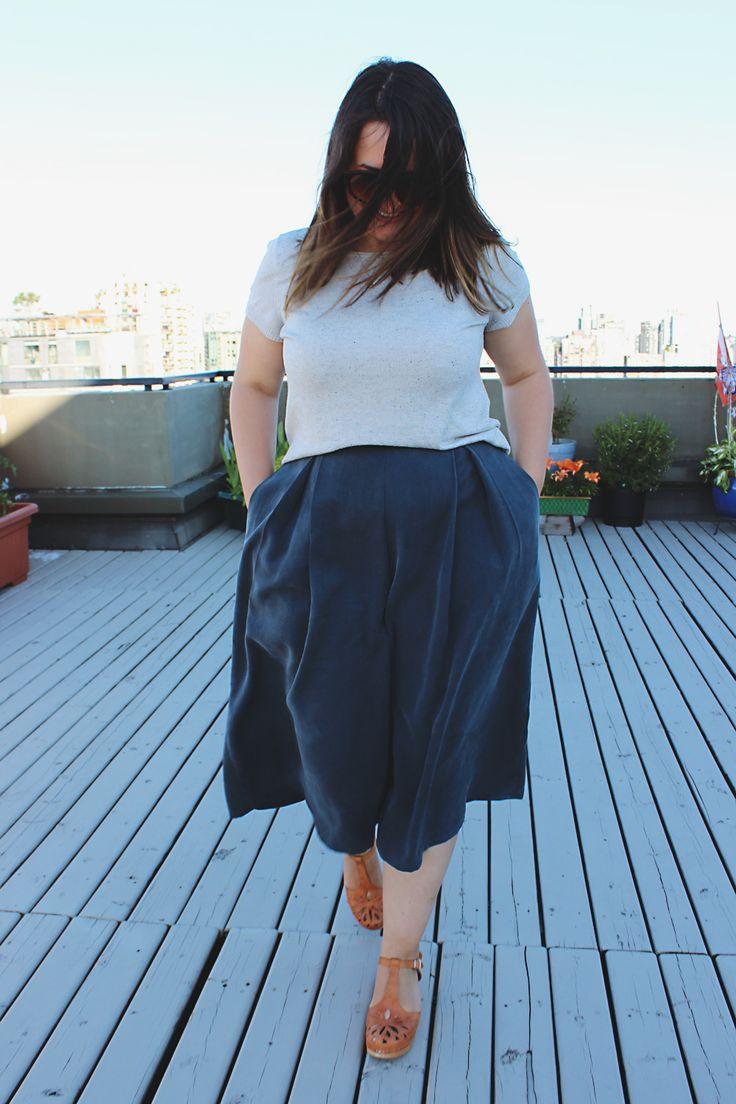 Winslow Culottes | Blackbird Fabrics Journal | http://www.blackbirdfabrics.com/blog/winslow-culottes-in-tencel-twill/