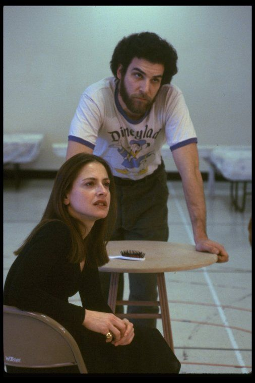 "Patti LuPone and Mandy Patinkin rehearsing for the Broadway production of the musical ""Evita."" (New York) - NYPL Digital Collections"