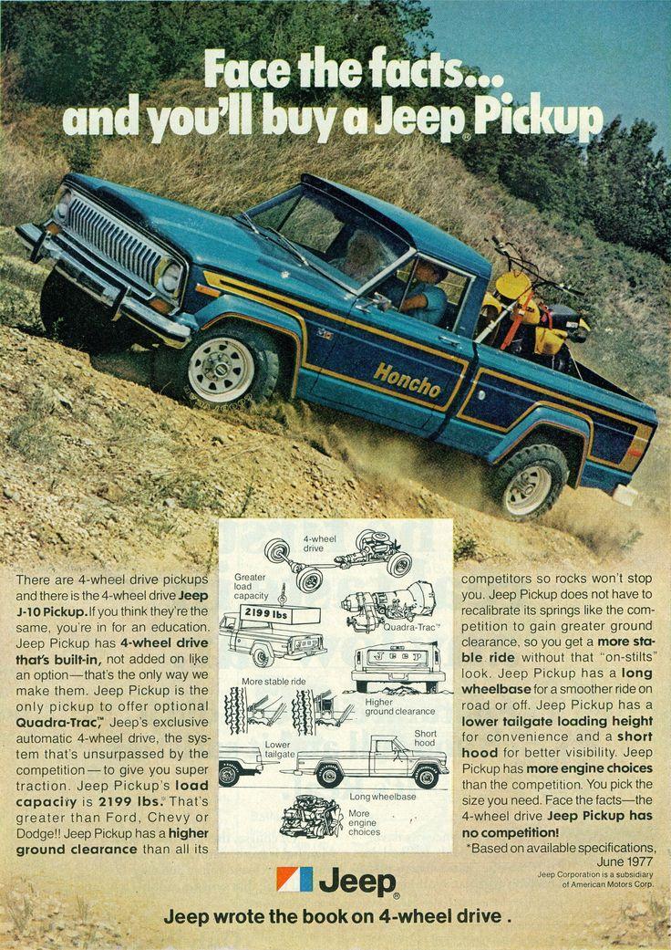 1978 Jeep J-10 Honcho 4X4 Pickup Truck | Flickr - Photo Sharing!