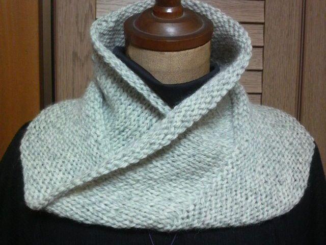 は~ちゃんの作陶日記 メビウスの輪編み ネックウォーマーです。 メビウスの輪編みネックウォーマー自分用です。暖かいです。