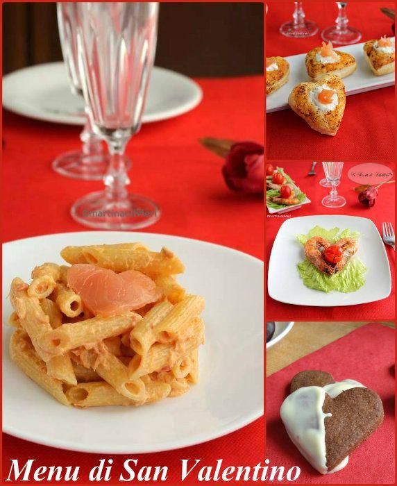 Una raccolta di ricette dall'antipasto al dolce pensate per il Menu di San Valentino. Piatti deliziosi e semplici da realizzare per la vostra dolce metà.