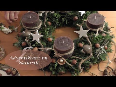 How to: Adventskranz schmücken im Naturlook - YouTube