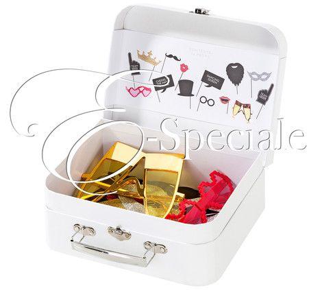 Valigia Kit Photo Booth 14pz - Prodotti Tema Ciak - Shop Per Tema - accessori e gadget per matrimoni e feste - E-speciale