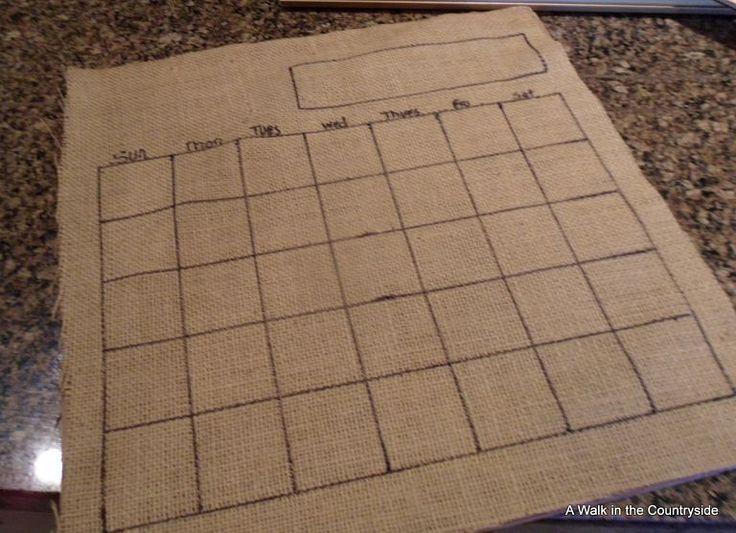 DIY Burlap Dry Erase Board