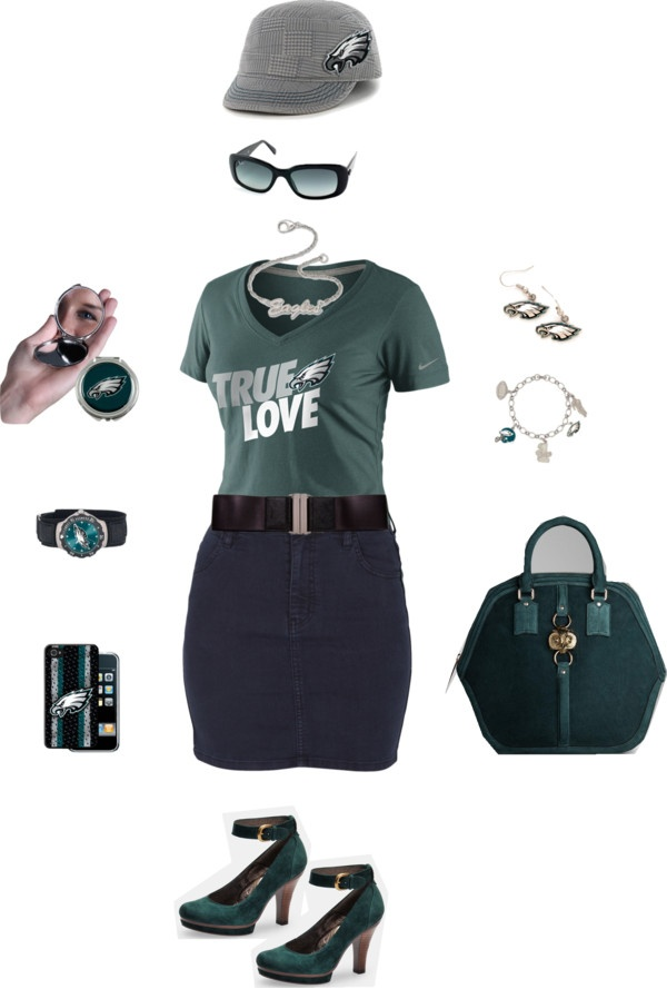 Philadelphia #Eagles Game Day by @HelenRLittle on Polyvore