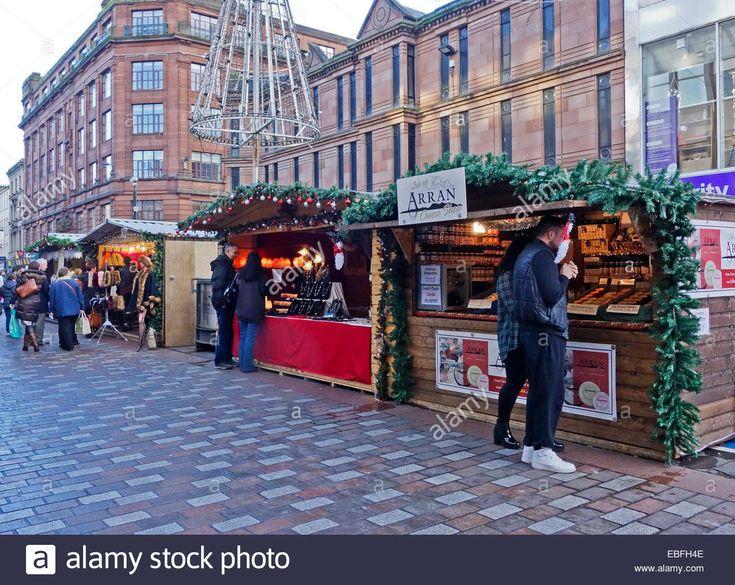 Glasgow Christmas market with stalls in Argyle Street Glasgow Scotland Stock Photo