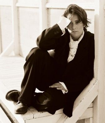 k.d. lang by Herb Ritts (seated)