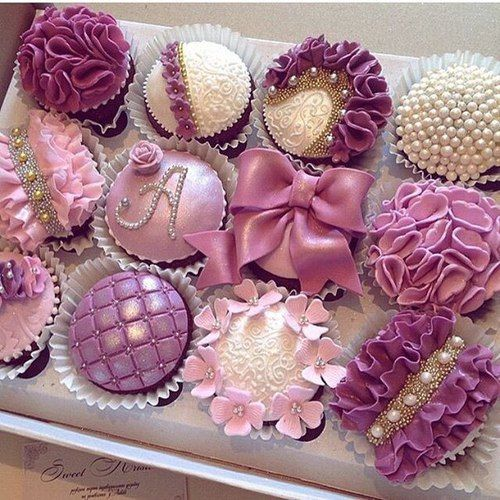 Purple Wedding Cupcakes ~                                                                                                                                                                                 More