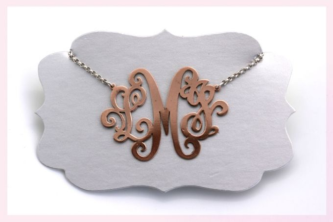 Monogram Necklace  by Janine Binneman Jewellery Design
