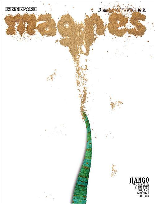 Magnes (A weekly cultural supplement of the Polish Dziennik Polski paper) [Designer: Tomek Bochenski]