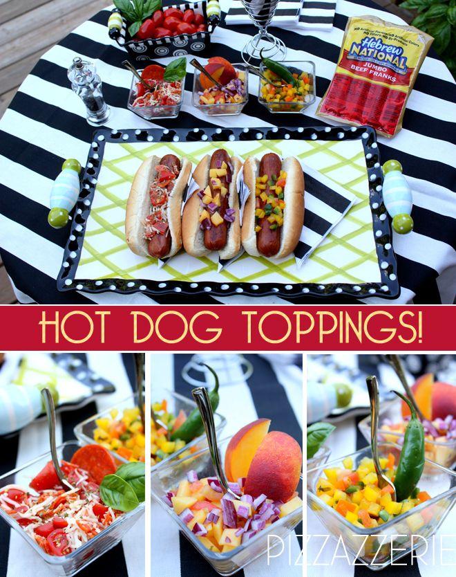Hot Dog Toppings: Hot Dog Bar, Hot Dogs Bar, Food Ideas, Unique Hotdogs, Bar Ideas, Dogs Entertainment, Hotdogs Tops, Graduation Parties Food, Food Bar