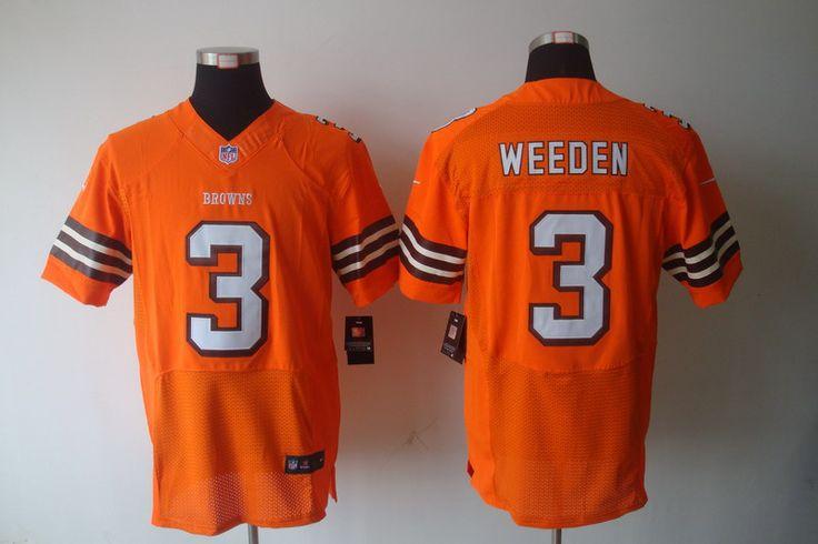 Cleveland Browns 3 Brandon Weeden Elite Oregon NFL Jersey