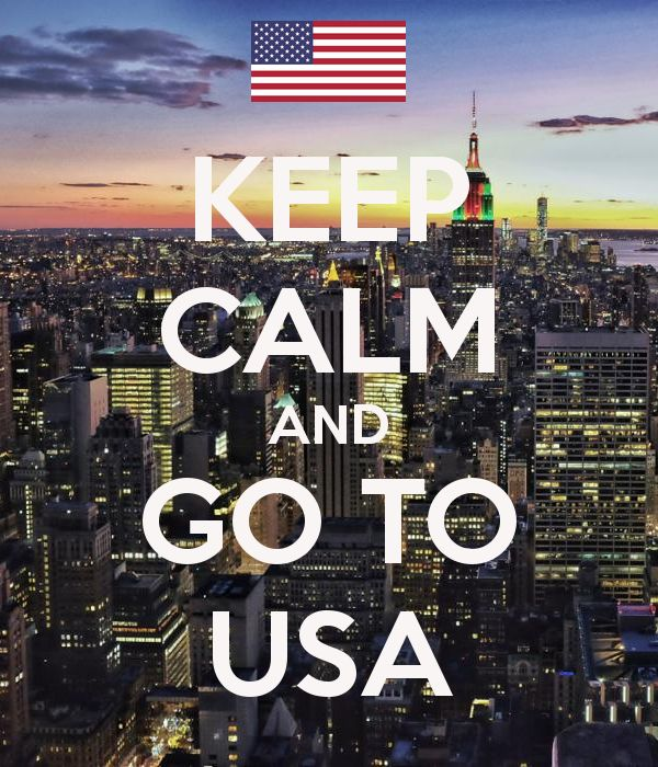 'KEEP CALM AND GO TO USA' Poster