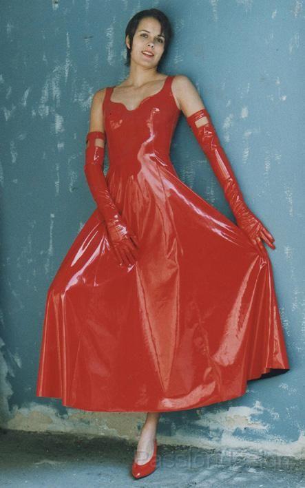 Red Vinyl Dress Dress Yp