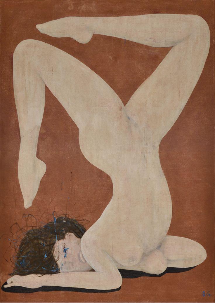 Daniel García, Acróbata, 2015, acrílico sobre tela, 210 x 150 cm