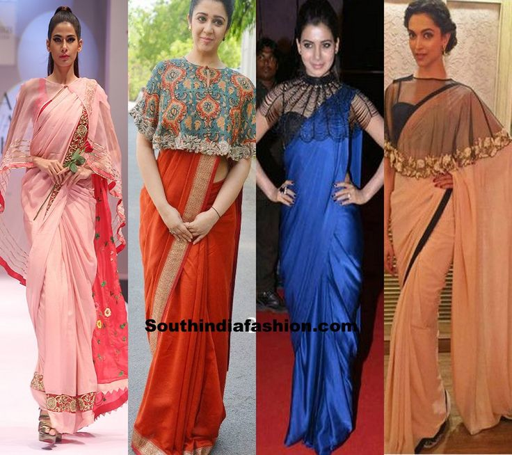 latest-saree-blouse-designs-capes