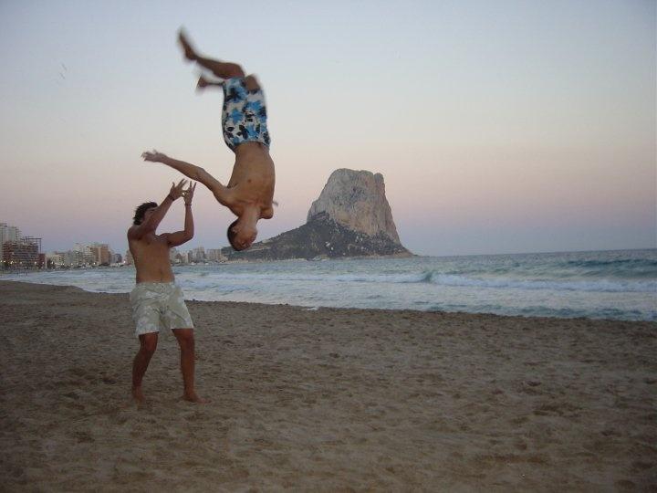 On Calpe beach, Alicante, Spain