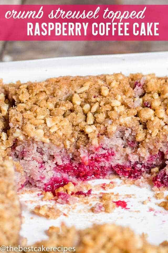 Use fresh or frozen raspberries in this extra moist Raspberry Coffee Cake with n… – apples and berries