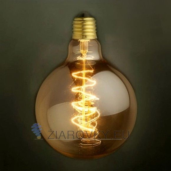 EDISON žiarovka - SPIRAL GLOBUS - E27, 40W