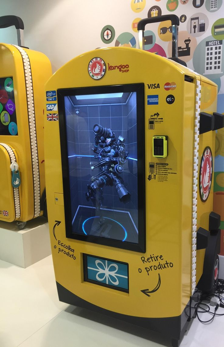 Hair accessories vending machines - Kangooshop In Brazil Eye Catching Clever Machine Design Intended For Operators Who