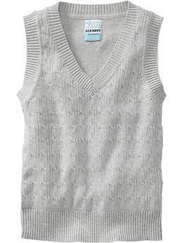 Girls Uniform Sweater Vests