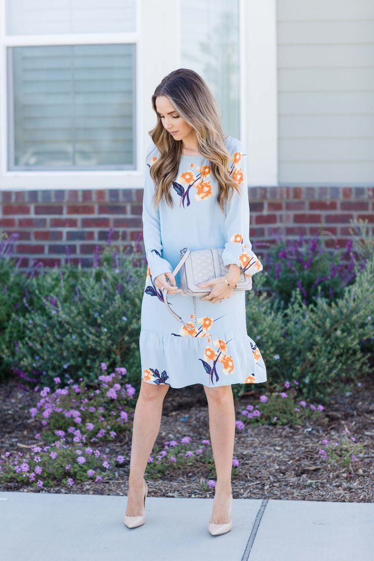 Merrick's Art || Blue Floral Dress