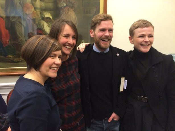 Actors Shaun Evans and Maxine Peake perform Liverpool's Penny Readings to sold-out audience
